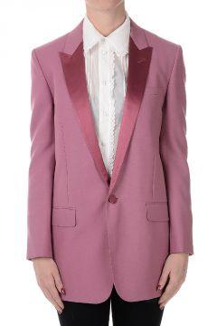 Wool Blend Tuxedo Blazer