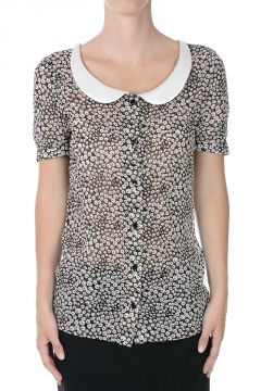 Short Sleeves Printed Blouse