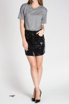 Stretch Cotton Mini Skirt