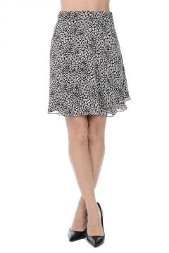 Rayon Printed Mini-Skirt