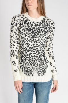 Wool Knitted Leo Printed Sweater