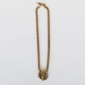 Brass LION CHAIN LINK Necklace