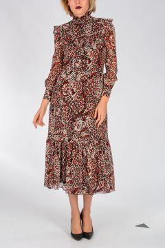 Leo printed Silk Dress