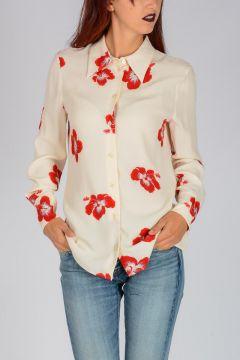 Crepe Ibiscus Glitter Shirt