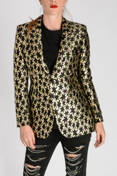 Embroidered Star Jacquard Blazer