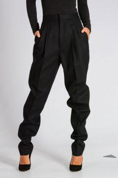 Pantaloni TUXEDO CAROT in Crepe di Lana