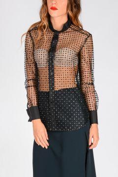 Camicia WING COLLAR Glitter