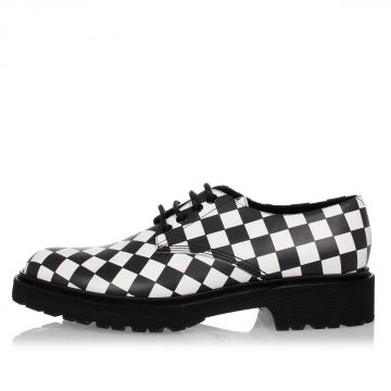 Leather CHECKED Shoes