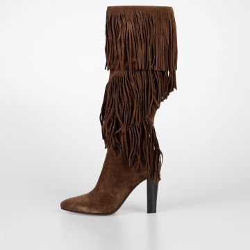 9,5 cm Suede Leather LILY FRINGES Boots