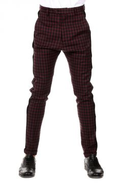 Stretch Wool Checked SOLE Pants