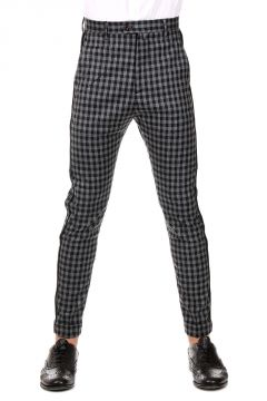 Wool Blend SOLE Pants Checked Printed