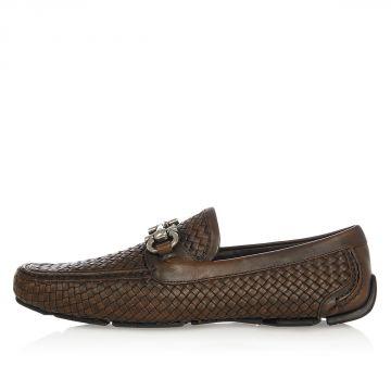 Double Gancio Braided Leather PARIGI Mocassins