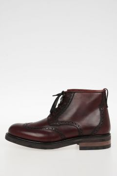 Brogue Leather GIASONE Ankle Boots