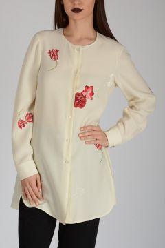 Silk Floral Pattern Shirt