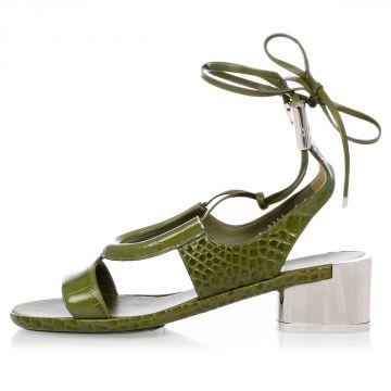 Sandalo GLORJA in Pelle con Tacco a Specchio