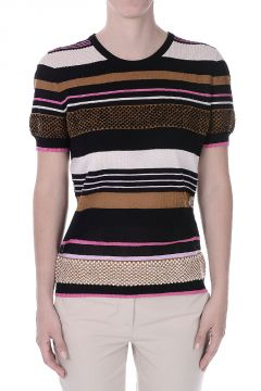 Striped Cotton Silk T-Shirt