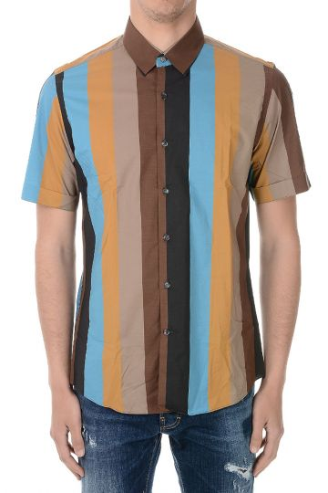 Popeline Cotton Shirt with Short sleeves