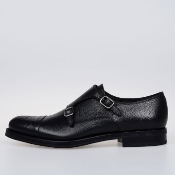 Leather GRAND 2 Monk Strap Shoes