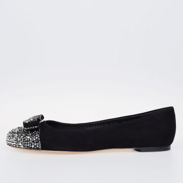 Suede Leather VARINO Ballet Flat With Details