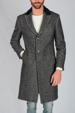 Virgin Wool And Silk Blend Coat