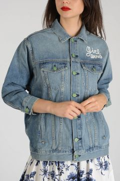 Embroidered Denim GEORGIA Jacket