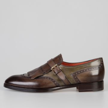 Bicolor Leather Loafers