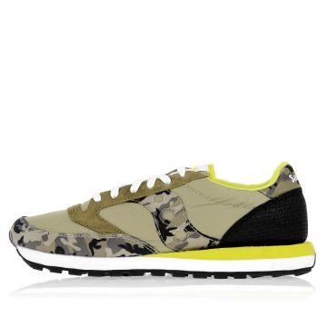 Sneakers Camouflage JAZZ con Dettagli in Pelle