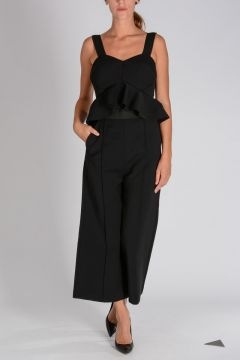 Flared Leg PEPLUM Jumpsuit
