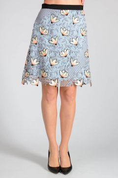 Floral Embroidered STRIKE MINI Skirt