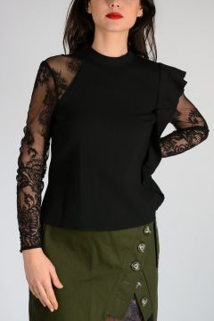 Lace Sleeve OPHELIA BLOUSE Top