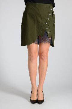 UTILITY MINI Skirt with Lace Detail