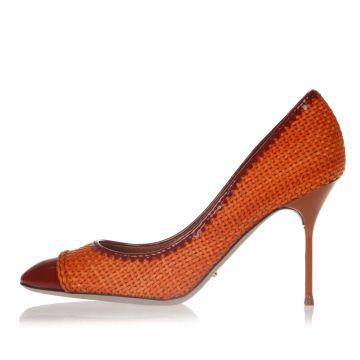 Woven Leather Pump Heel 10 cm
