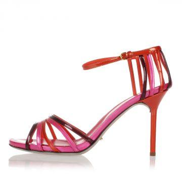 Sandalo in Pelle Verniciata Tacco 10 cm