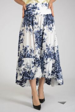 Flowered Long Skirt