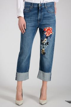 Jeans in Denim In Misto Cotone 19cm