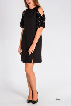 Sequined Cotton Dress