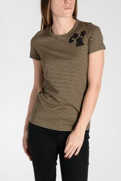 T-Shirt in Jersey di Cotone a Righe