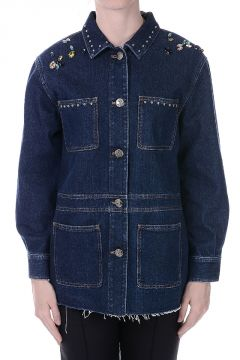 Denim Blazer Embroidery and Studs