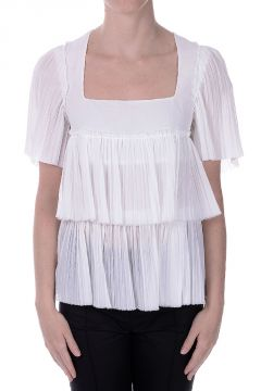 Cotton Pleated Top
