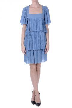 Tiered Cotton Muslin Dress