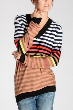 Silk & Cotton Striped Sweater