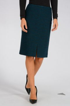 Striped Wool Blend Skirt