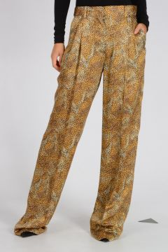 silk Leo Printed Pants