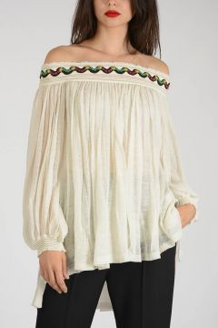 Paillette Embroidered Top