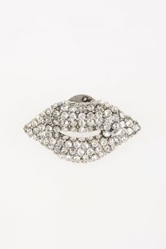 Lips Crystals-Embellished Pin