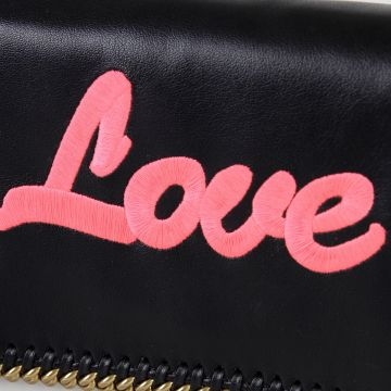 Shoulder clutch LOVE  with Gold Tone Chain