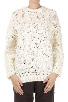Maglione misto lana e alpaca lavorato a maglia