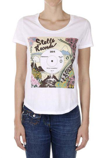 T-Shirt con Stampa STELLA RECORD