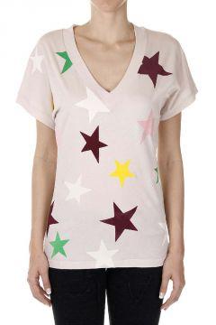 T-Shirt con Stampa Stelle