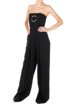 Corset Strapless Wool  Jumpsuit